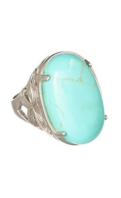 sterling silver turquoise oval ring