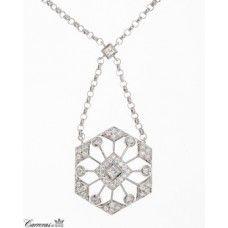 "Peter Storm 18kt White Gold ""Sunburst"" Diamond Pendant"