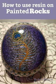 Learn how to make beautiful and glossy rocks using resin. These tips will help you to create amazing painted rocks! resin Learn how to make beautiful and glossy rocks using resin. These tips will hel Pebble Painting, Pebble Art, Stone Painting, Painting Art, Painting Videos, Pour Painting, Painting Lessons, Painting Tutorials, Stone Crafts