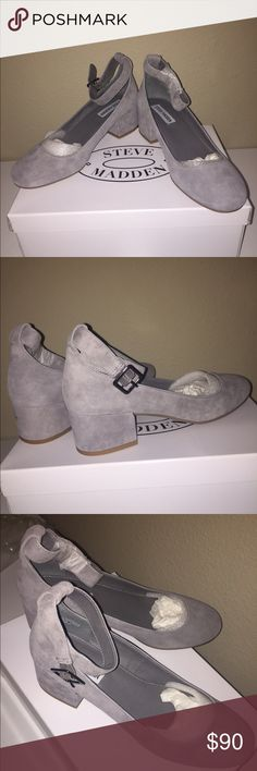☀️$55 TODAY☀️Steve Madden suede block heeled shoes I bought these shoes because they were so adorable but just not my style, so I never wore them! Completely brand new with packaging and still in box. Help me find them a better home! 💗 retail for $99. The heel is 2 inches high and the adjustable straps wrap around the ankle. ❤ Love the item but not the price? Make an offer on a single item or a bundle! Steve Madden Shoes Flats & Loafers