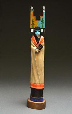Blue Corn Maiden Kachina Doll by Wilmer Kaye (Hopi)