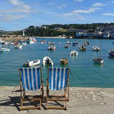The sea - have lived right next to it all my life #water #sea #stives #cornwall #harbour #nofilter #summer #deckchairs #relaxation #otbsplashdown #tidein #whatwatermeans2me #lovestives