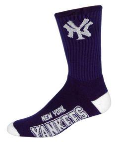 For Bare Feet New York Yankees Deuce Crew Socks