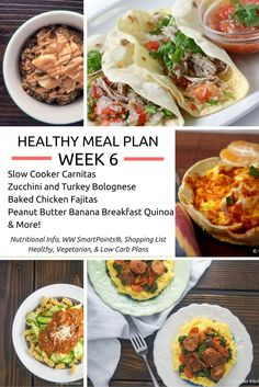 Healthy Meal Plans Week 6 - Slender Kitchen http://www.healthydinneroptions.com/