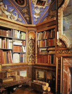 The library at Caramoor House (Katonah, NY)