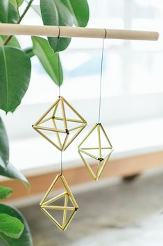 A Pair And A Spare: Brass Himelli // these would look great paired with hanging plants in brass pots