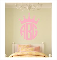 Crown Personalized Wall Monogram