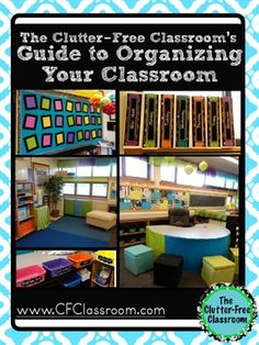 Clutter-Free Classroom has FREE tips & ideas to help teachers improve classroom organization & management.Enjoy teaching with less mess & less stress. Organization And Management, Paper Organization, Teacher Organization, Management Tips, Classroom Design, Classroom Themes, School Classroom, Classroom Labels, Future Classroom