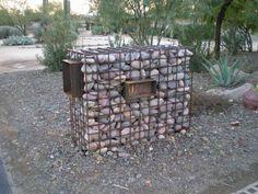gabion letter box
