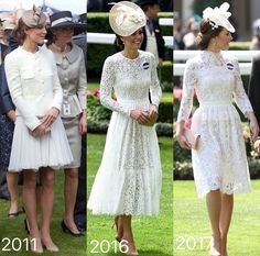 """Royal Ascot 2011, 2016 and 2017.......OUR KATE AT THE """"HORSES""""............ccp"""