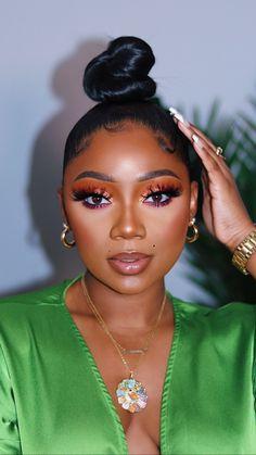 Cute Makeup, Glam Makeup, Gorgeous Makeup, Pretty Makeup, Makeup Tips, Beauty Makeup, Hair Makeup, Black Girl Makeup, Girls Makeup