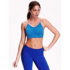 Old Navy Light Support Seamless Sports Bra ($20) ❤ liked on Polyvore featuring activewear, sports bras, lavender haven, v neck sports bra, old navy, racer back sports bra, racerback sports bra and old navy activewear