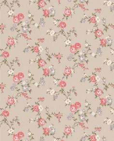 I like the pinks and brown colours in this wallpaper it gives a vintage feel. Cottage Wallpaper, Pink Wallpaper, Fabric Wallpaper, Pattern Wallpaper, Wallpaper Backgrounds, Iphone Wallpaper, Papel Vintage, Vintage Paper, Scrapbooking