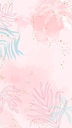 Pink leafy watercolor background vector premium image by Aum Pastel Pink Wallpaper, Pink Wallpaper Backgrounds, Phone Wallpaper Images, Watercolor Wallpaper, Cute Patterns Wallpaper, Iphone Background Wallpaper, Aesthetic Pastel Wallpaper, Galaxy Wallpaper, Background Patterns