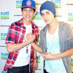 Austin Mahone met Justin Bieber for the first time!<3