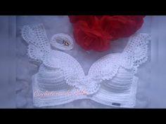 Fabulous Crochet a Little Black Crochet Dress Ideas. Georgeous Crochet a Little Black Crochet Dress Ideas. Bikinis Crochet, Crochet Bikini Top, Crochet Shorts, Crochet Blouse, Crochet Clothes, Crochet Jumper Pattern, Crochet Collar, Crochet Motif, Love Crochet