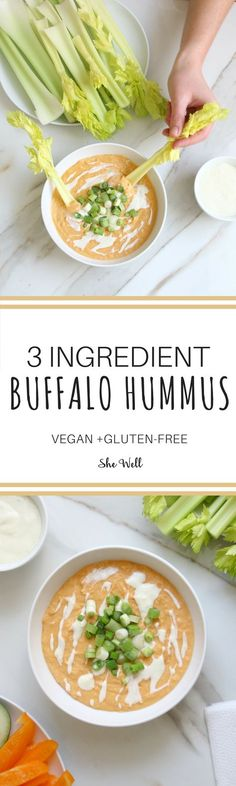 This easy buffalo hummus is the perfect snack for game day or super bowl sunday! Great for people who are vegan, vegetarian & gluten-free! Click to read now or pin for later!
