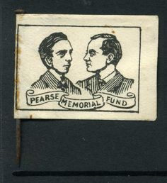 Pearse Memorial Fund - Scoil Eanna label badge. including original pin Roisin Dubh, Easter Rising, Button Badge, Badges, Ireland, Irish, Photographs, Label, Buttons