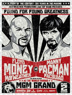 Mayweather vs Pacquiao Poster by romancortez on Etsy