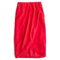 Silk cutaway skirt