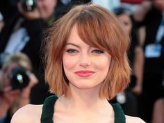 Il caschetto di Emma Stone #hairstyle #haircut #redhair