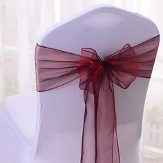pcs Organza Chair Cover Sash Bow Wedding Party Reception Banquet Decor Grab now Wedding Chair Bows, Wedding Chair Decorations, Wedding Bows, Wedding Chairs, Wedding Stuff, Dream Wedding, Banquet Chair Covers, Textiles, Wedding Weekend