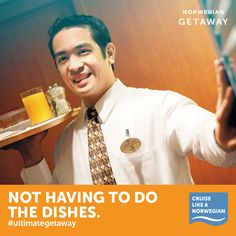Leave the dishes to us on your  Pinned from Norwegian Cruise Line #cruise #cruiseabout #thecruisingspecialists
