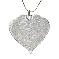 SilverPlated Aspen Leaf Pendant Sterling Silver Serpentine Chain Necklace 20 ** You can get more details by clicking on the image.Note:It is affiliate link to Amazon.