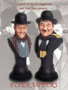 BUY: Laurel and Hardy in THE FIXER UPPERS busts.