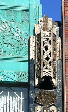 Mary Bowles Building, Broadway and Telegraph Avenue, Oakland, California. Designed by Douglas Dacre Stone Architecture Unique, Architecture Art Nouveau, Art Deco Period, Art Deco Era, Interiores Art Deco, Estilo Interior, Design Industrial, Estilo Art Deco, Inspiration Art
