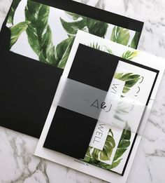 Tropical Wedding Stationery by Paper Minx Designs See more here: https://www.etsy.com/au/listing/520629428/wedding-invitation-tropical-wedding?ref=shop_home_active_10
