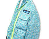Monogrammed Kavu Rope Bags- Floral Mosaic - Great for girls of all ages.  Great  for Birthdays, Anniversaries, etc