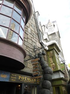 Storefront at Harry Potter World, Islands of Adventure in Universal Studios, Orlando Florida.