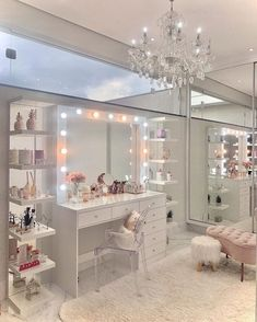 Home Room Design, Room Makeover, Room Ideas Bedroom, Room Inspiration Bedroom, Beauty Room Decor, Luxurious Bedrooms, Stylish Bedroom, Pink Bedroom Decor, Dressing Room Design