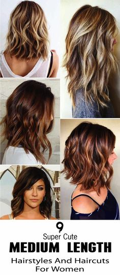 here are 9 Super Cute Medium Length Hairstyles And Haircuts For Women. No matter. - - here are 9 Super Cute Medium Length Hairstyles And Haircuts For Women. No matter how you wear your dresses, medium length hair gives you great styling. Cute Medium Length Hairstyles, Haircut For Medium Length Hair, Medium Long Haircuts, Hairstyles For Medium Length Hair With Layers, Long Length Hair, Medium Hair Cuts, Medium Length Hair Cuts With Layers, Medium Hair Styles For Women, Medium Hair Length Styles