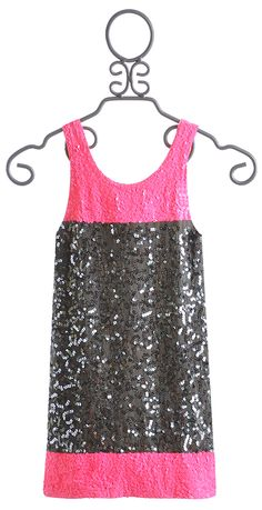 aa3ac88449c Flowers By Zoe Tween Charcoal and Pink Sequin Dress  79.50 Girls Boutique  Dresses