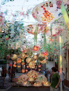 Festa Major de Gracia, Barcelona, Spain- a week long sidewalk art festival in the Gracia Neighborhood