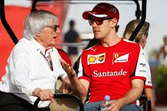 """Vettel:""""I can understand the whole tolerance issue Bernie, but don't ask me to park behind some Abercrombie & Fitch dude on the grid!"""""""