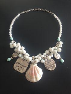 AugusTino Perlenkette *Seaside*, weiss von MermaidsJewellery auf DaWanda.com