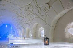 Das Kemi SnowCastle (das Schneeschloss in Kemi) in Lappland