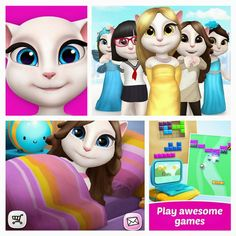 Free Download My Talking Angela v1.0.3 apk+obb data (Mod) (Unlimited Coins/Gems] Android Full Cracked Game