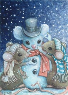 Frosty the snowmouse