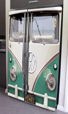 VW bus decal for side by side refrigerator