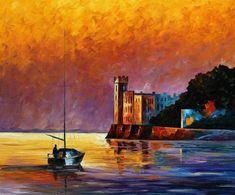Pintura - Golfo de Trieste del Golfo: Golfo de pintura al óleo, Leonid Afremov…