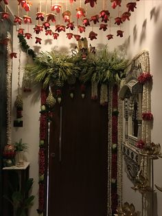 Awesome Wedding Entrance Decorations At Home 22 Diy Diwali Decorations, Marriage Decoration, Wedding Stage Decorations, Festival Decorations, Flower Decorations, Wedding Entrance, Wedding Ceremony Backdrop, Entrance Decor, House Entrance