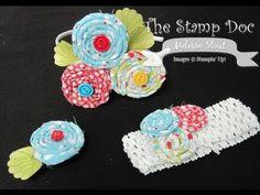 Easy, No-Sew Fabric & Ribbon Rosettes