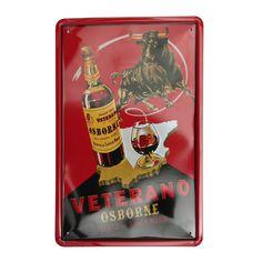 Cuadro de Metal Impreso Vintage VETERANO 20x30