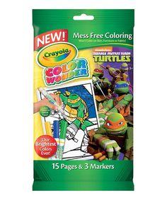 This TMNT Color Wonder Mini Coloring Pad
