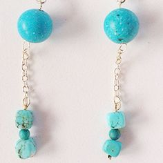 Natural+Turquoise+&+Sterling+Silver+Dangle+by+SpawnySilver+on+Etsy,+$27.99