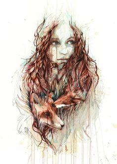 Portraits in Ink & Tea